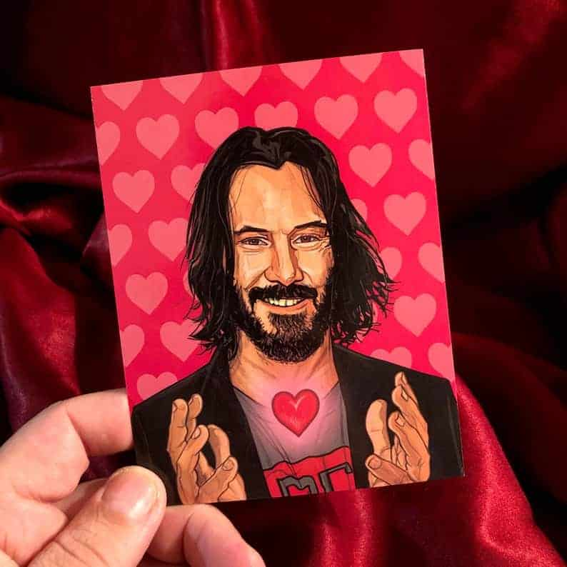 Keanu Reeves breathtaking valentines day card