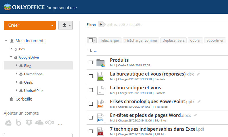 OnlyOffice gestion documents cloud