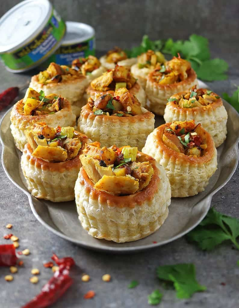 Tuna Potato Puffs Appetizers