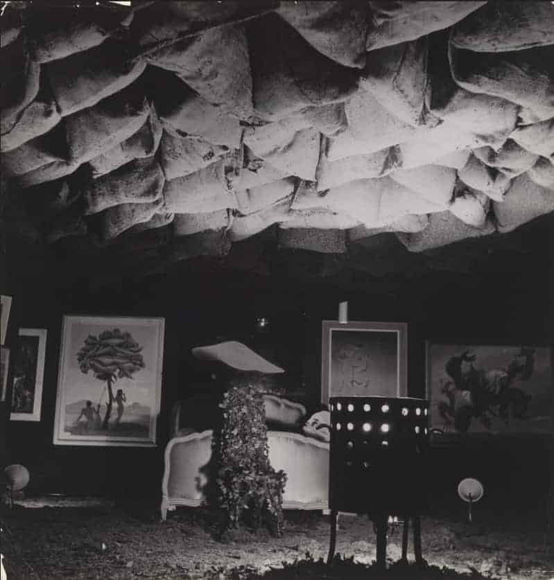 Main hall of the International Surrealist Exhibition, Paris, 1938. Photo: Roger Schall