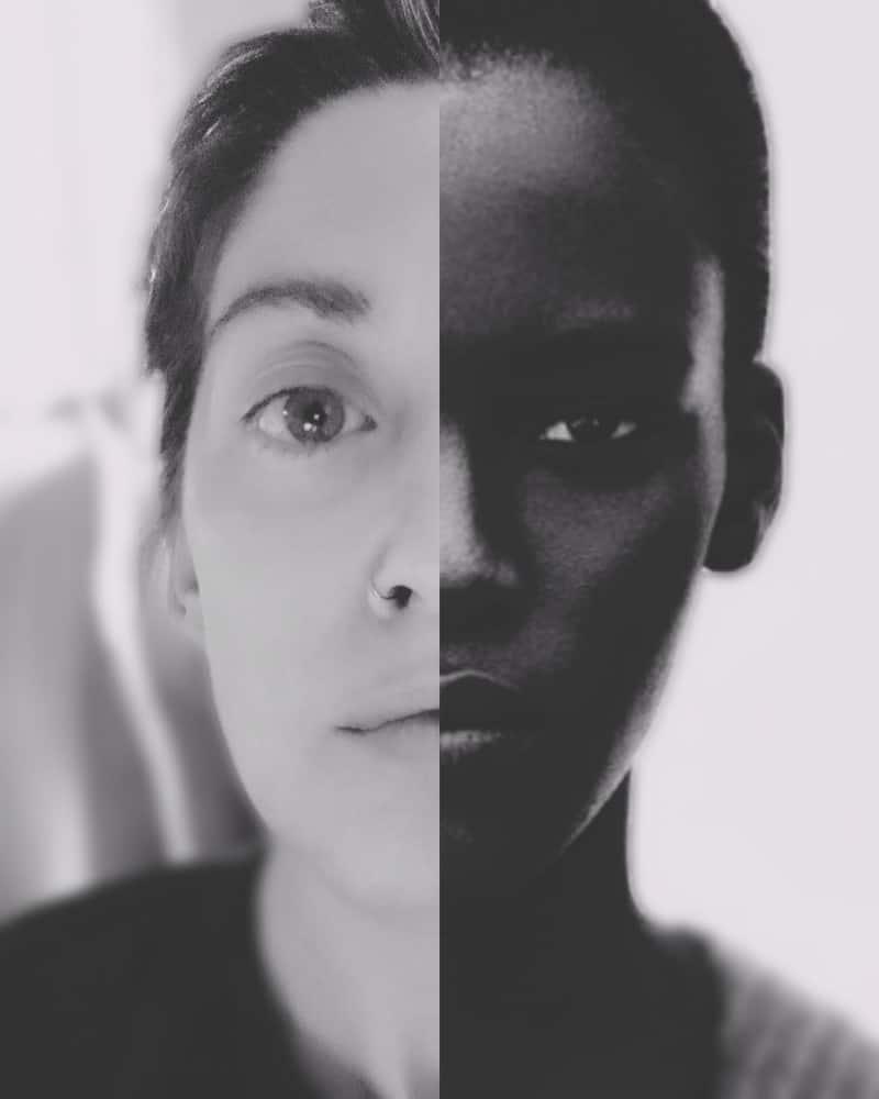 ritratto per emoji nere