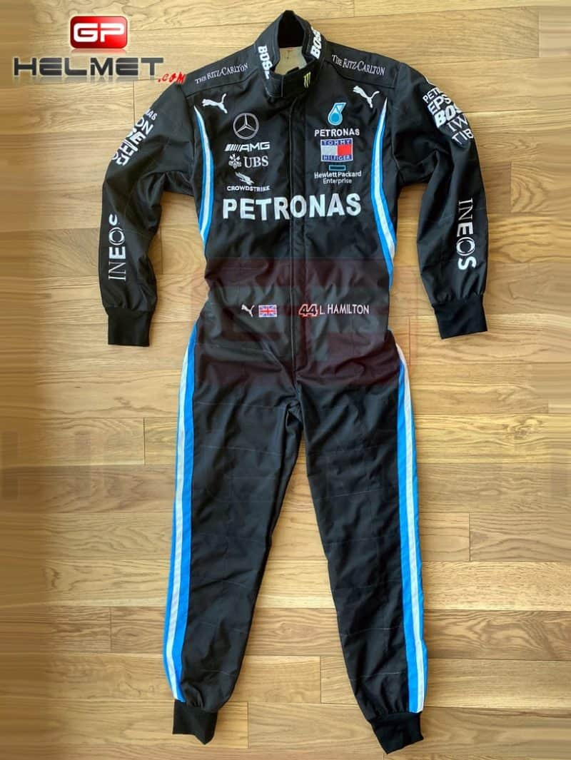 Lewis Hamilton 2020 replica Racing Suit Mercedes AMG F1 / Black Lives Matter model