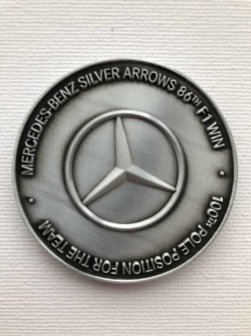 Genuine Mercedes Benz Commemorative F1 Medal from 2018 Brazilian GP (2250 of 2250)