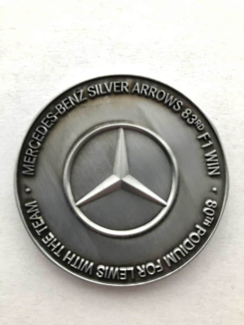 Genuine Mercedes Benz Commemorative F1 Medal from 2018 Singapore GP (2245 of 2250)