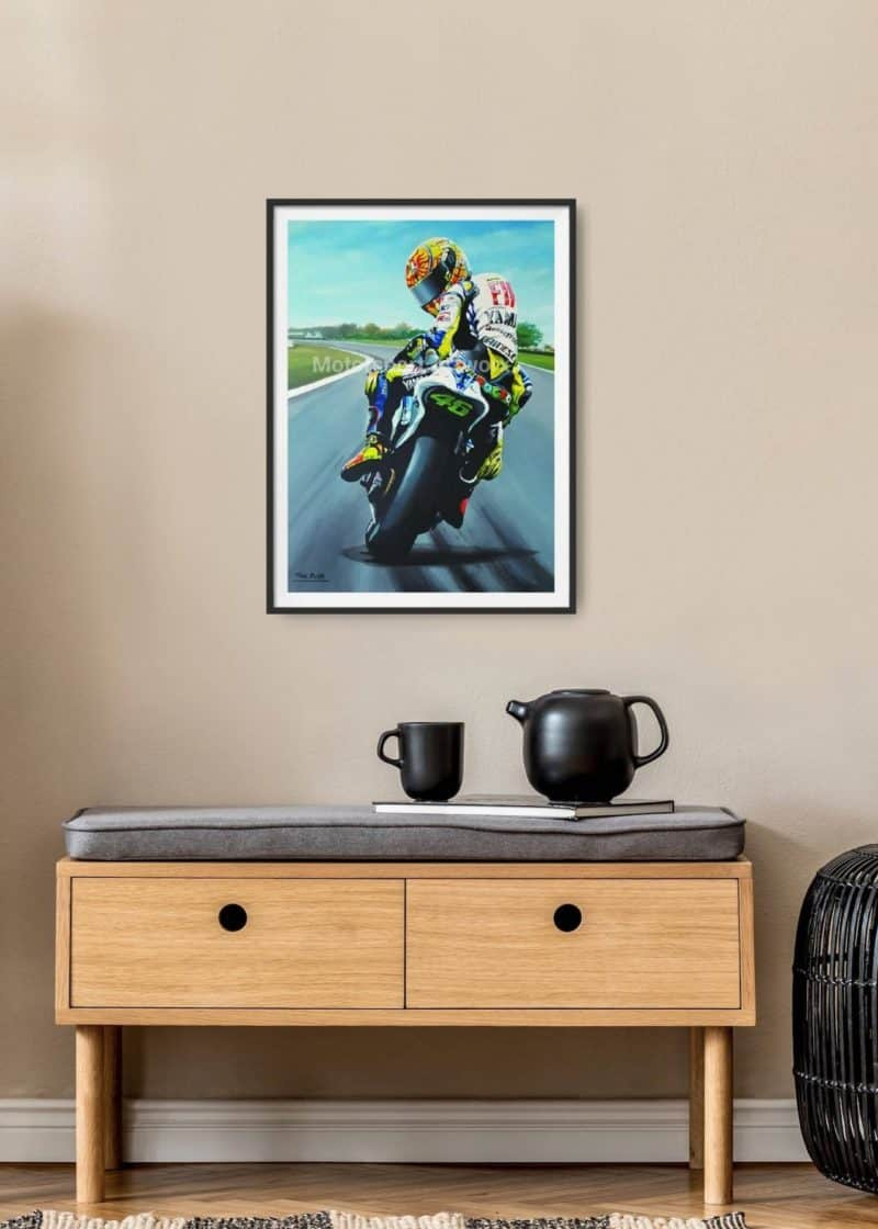 Forza Rossi, Valentino Rossi limited edition art print by Jeff Rush Motorcycle racing poster Road racing poster Moto GP poster