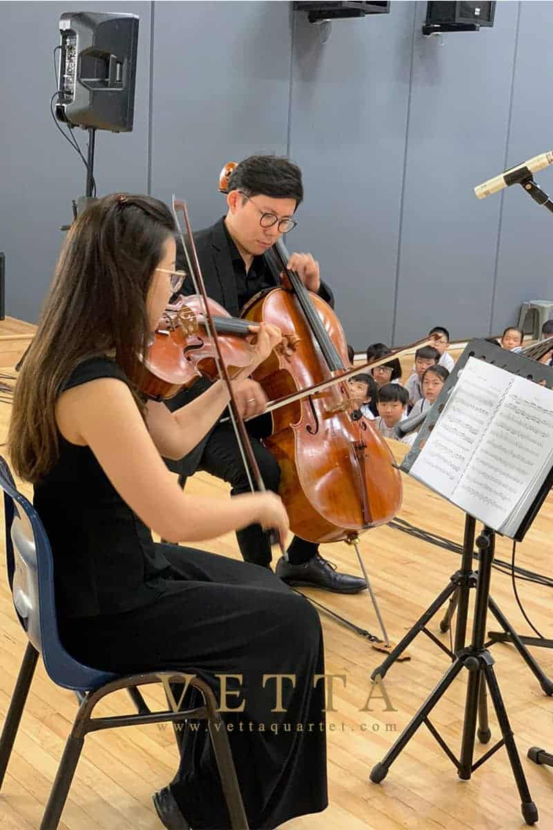 String Quartet for Educational Outreach at Rosyth School
