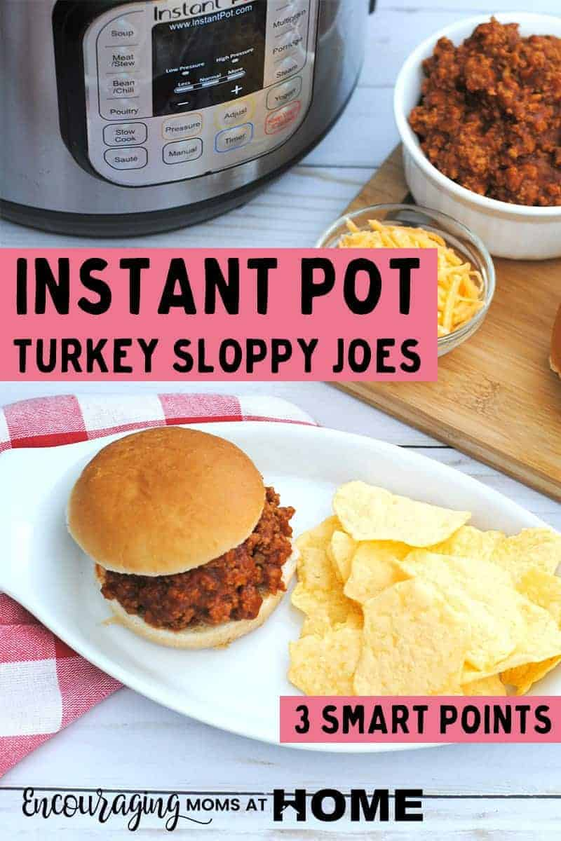 Skoppy Joes are a quick and easy meal for lunch or dinner. Did you know that they can also be healthy? This Instant Pot Turkey Sloppy Joe recipe is healthy and delicious and as a plus is only 3 ww smart points #instantpot