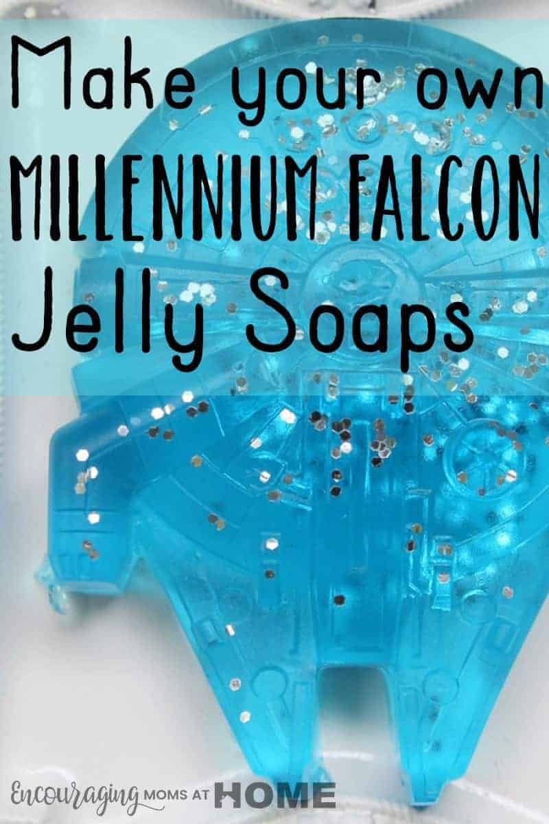 Have a Star Wars fan in your house? Using this Millennium Falcon mold makes soap that's fun and that your kids can help make at home. FREE printable recipe included.