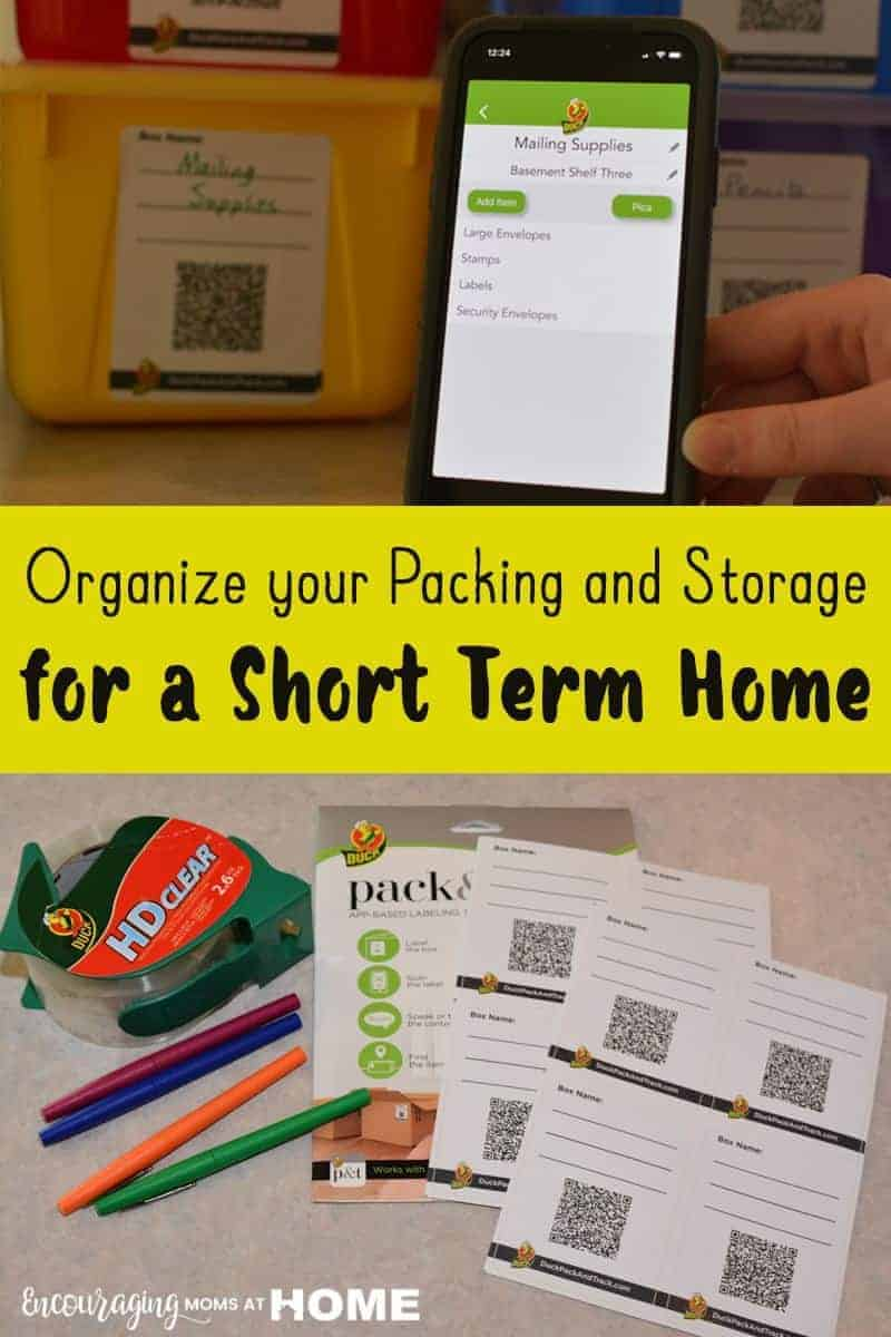 Organizing for a Short Term Home