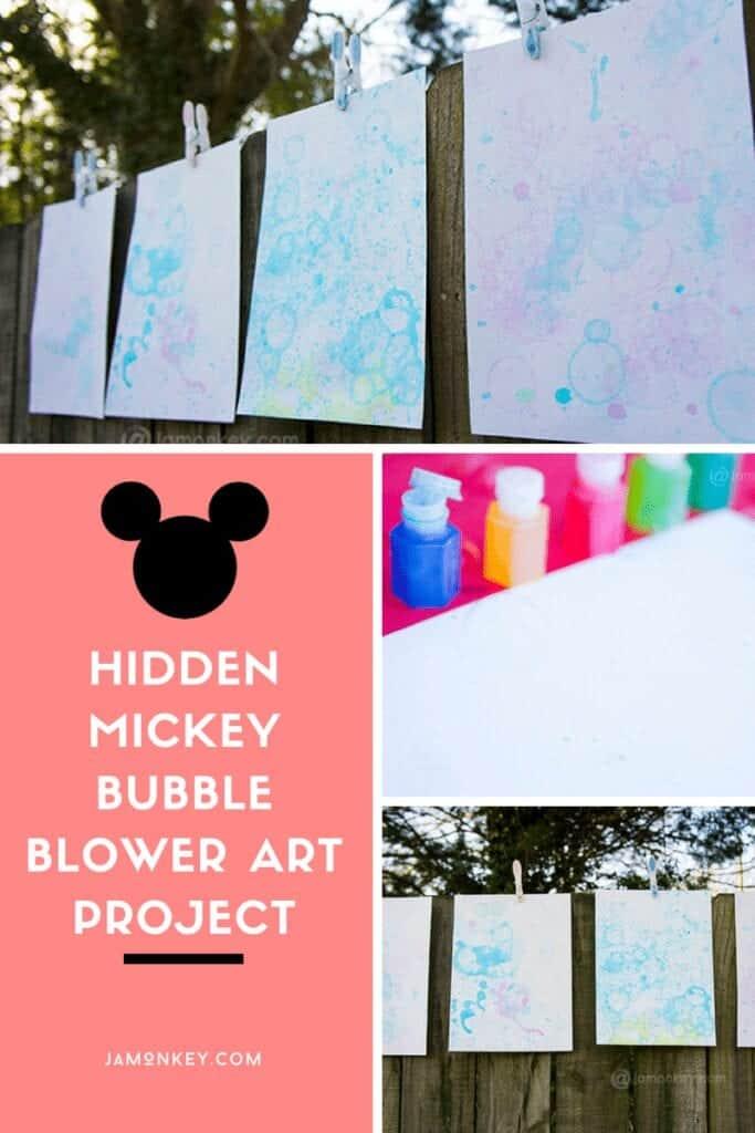 Hidden Mickey Bubble Blower Art Project