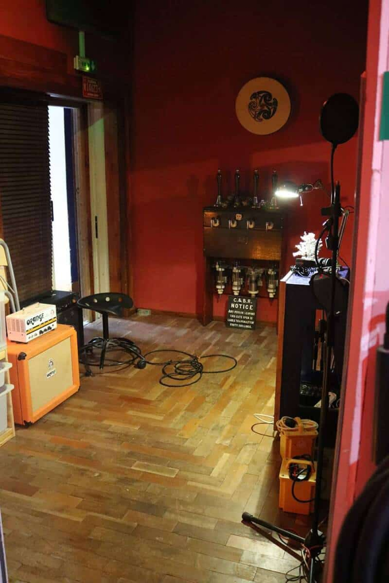 guitar room at Panicbutton - Recording and Rehearsal Studio Hampton London