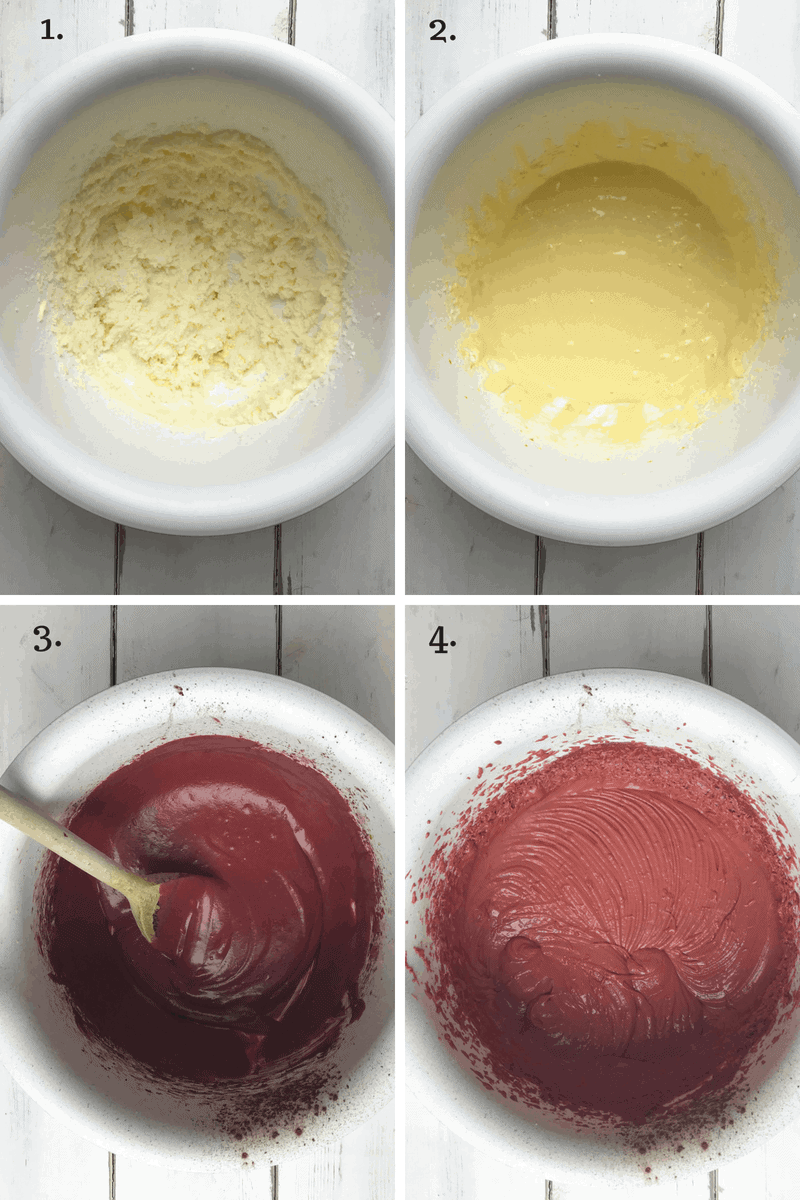 A step by step - how to make red velvet cupcakes