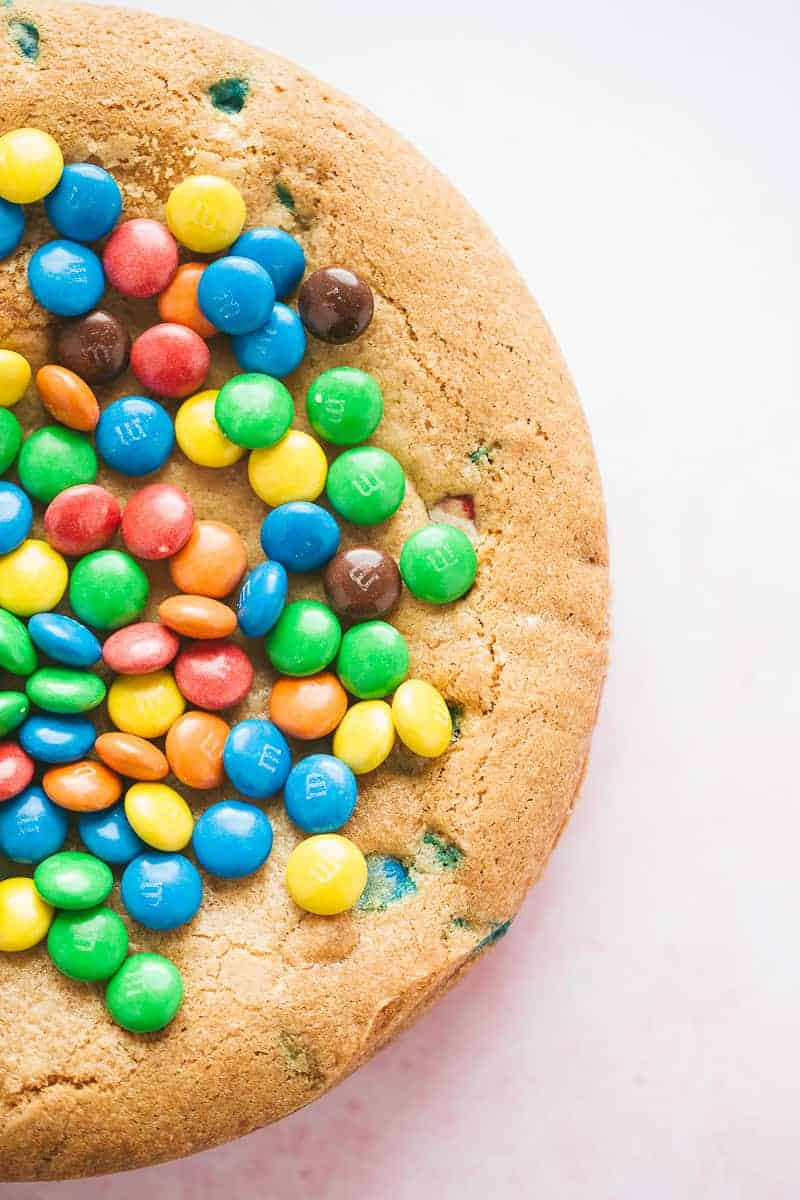 An M&Ms cookie cake.