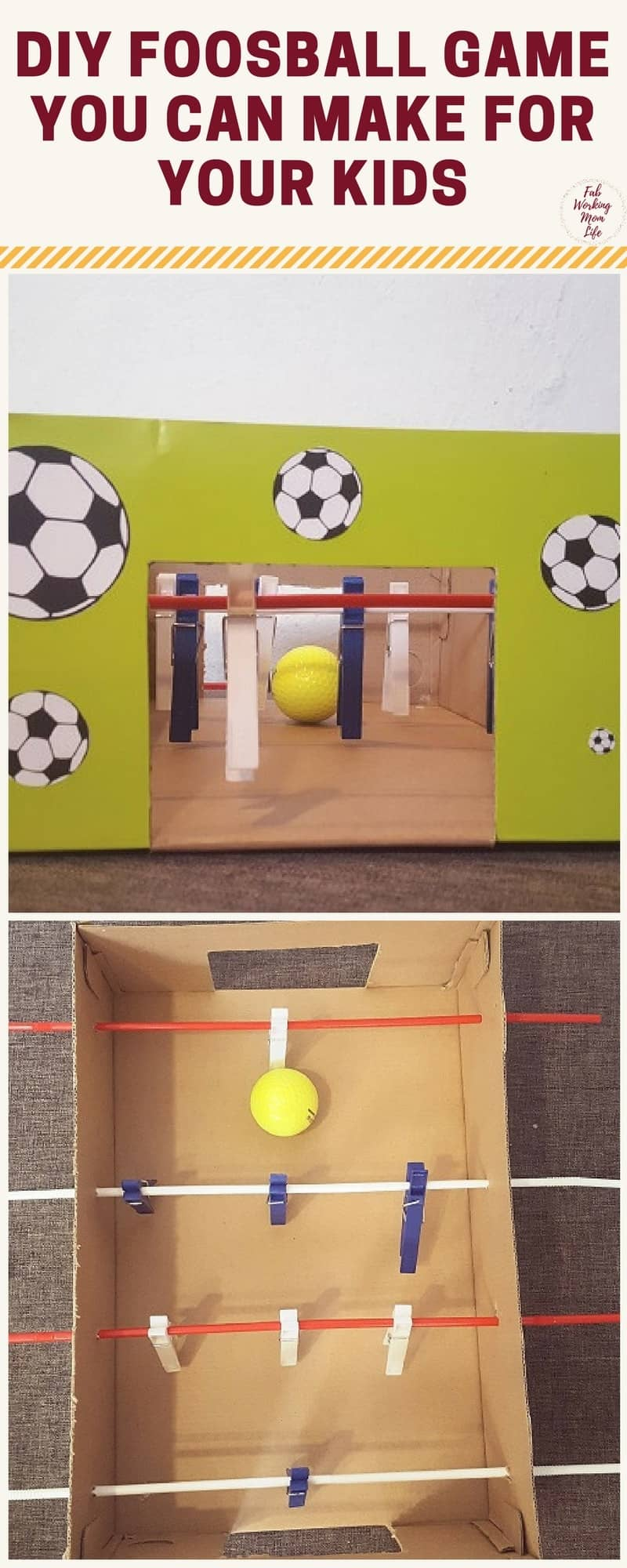 DIY Foosball Game You Can Make For Your Kids