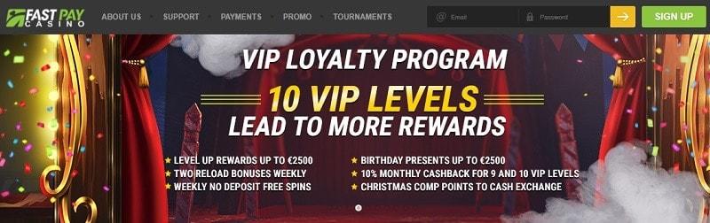 Fastpay Casino VIP Program