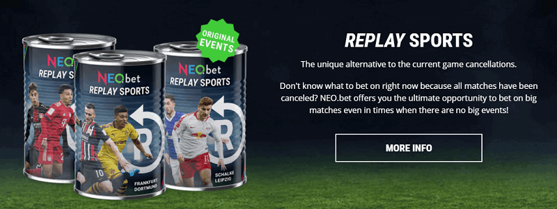 NEO.bet Replay Sports Betting