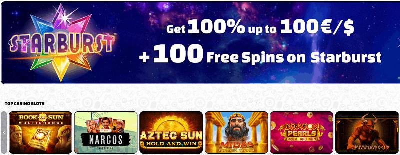 Betchaser 100 free spins welcome bonus