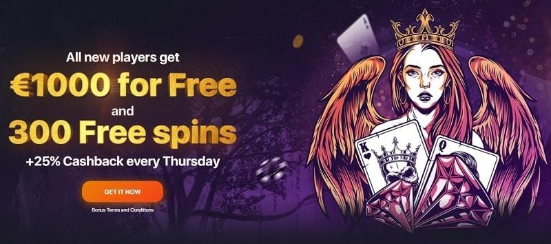 Praise Casino free spins bonus promotion