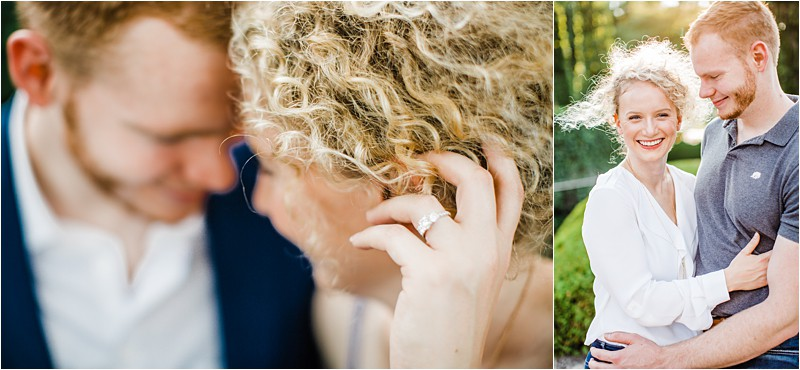 Romantic Engagement session in Chicago Botanic garden