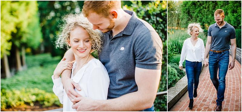 Chicago Botanic garden romantic engagement session