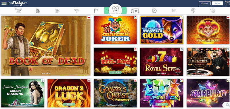Sloty Casino Website Review