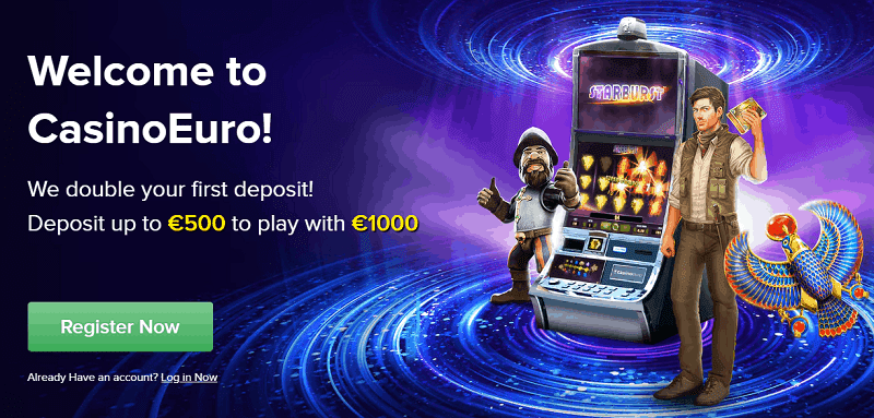 CasinoEuro welcome bonus and free spins