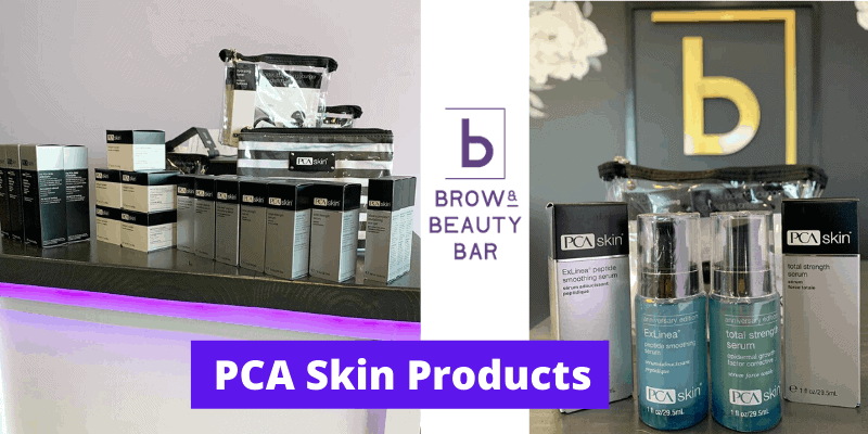 PCA SkinProducts used by Brow Beauty Bar
