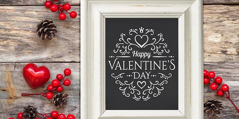 Free Valentine's Day Printable for 8 x 10 frame