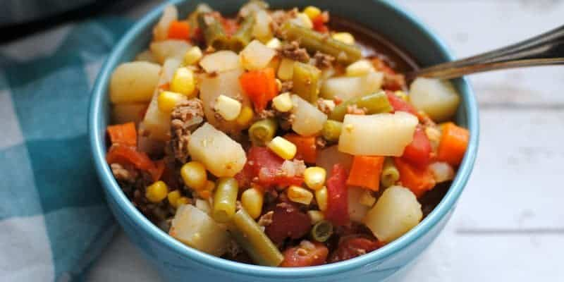 Instant Pot Vegetable Beef Soup made in an Instant Pot