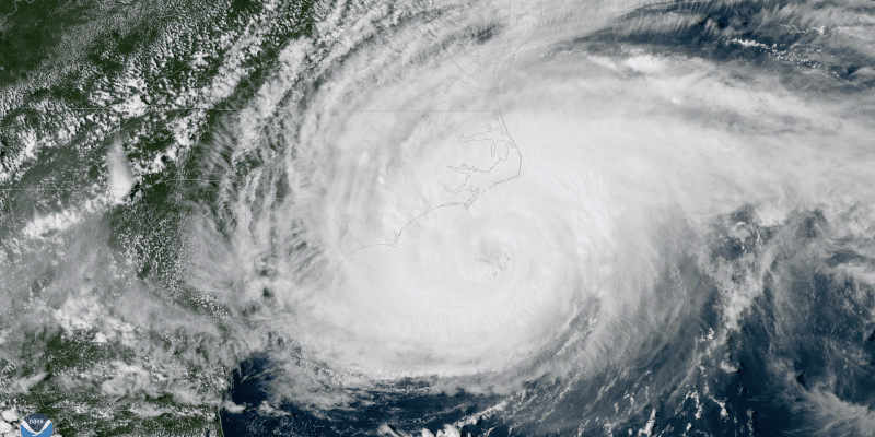 NOAA.gov image of Hurricane Florence Satellite View