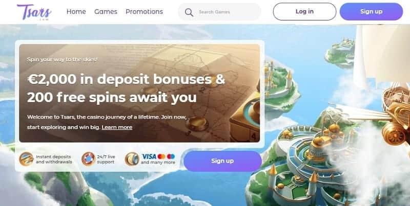 Tsars Casino Welcome Offer