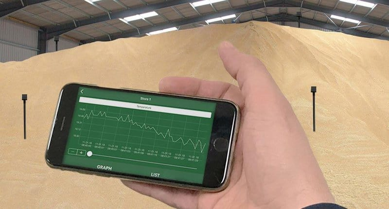 minitemp blue wireless crop sensors and ml sensing app