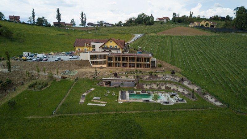 Baustelle am Ratscher Landhaus in Ratsch an der Weinstrasse