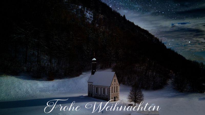Sternenhimmel an Weihnachten