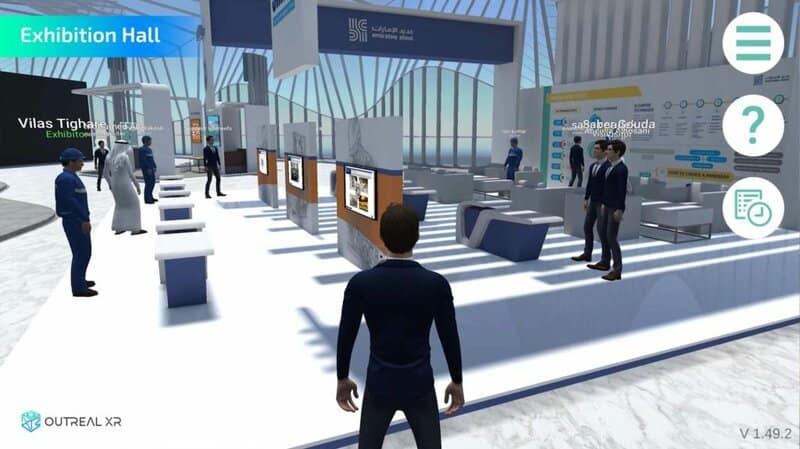 Custom 3D exhibition hall developed for Emirates Steel