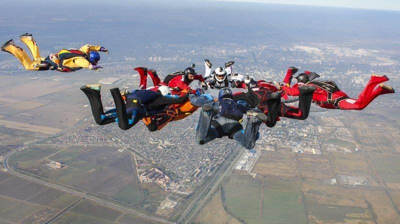 прыжки с парашютом юг