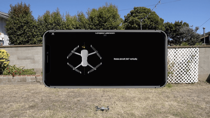 mavic air 2 compass calibration