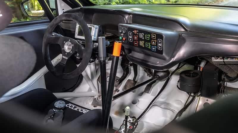 Opel Corsa Rally4 interior