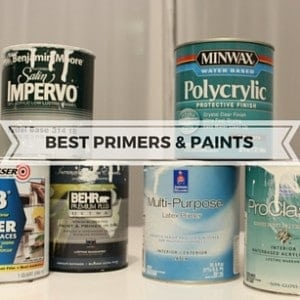BEST PRIMERS & PAINTS FOR CABINETS, FURNITURE & FIREPLACES