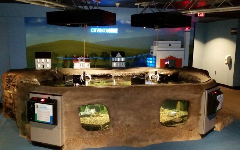 Mystic Aquarium Exhibit using Endurabond Plastic Foundation