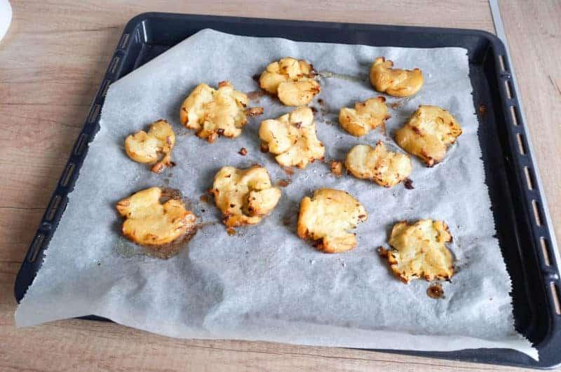 Pieczone gniecione ziemniaki na chrupiąco