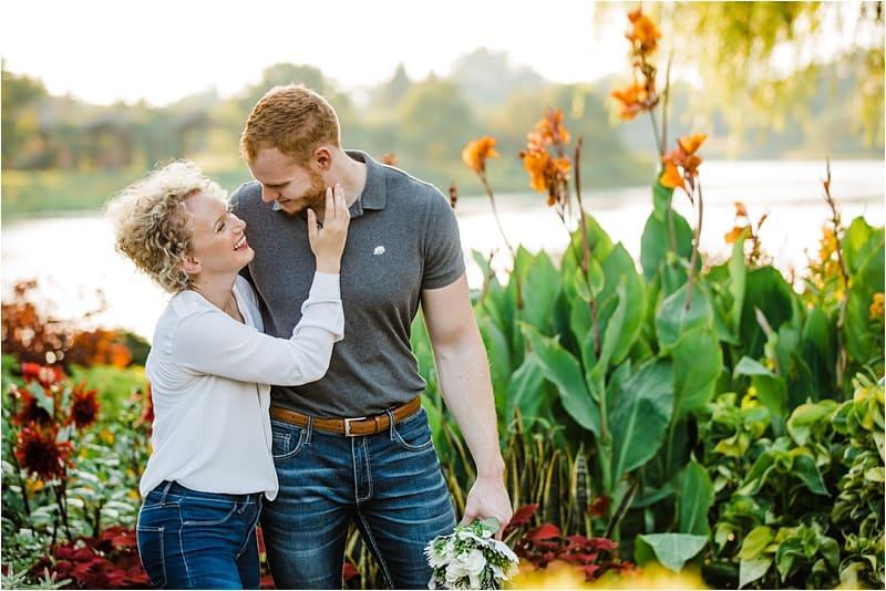 Engagement session in Chicago Botanic garden