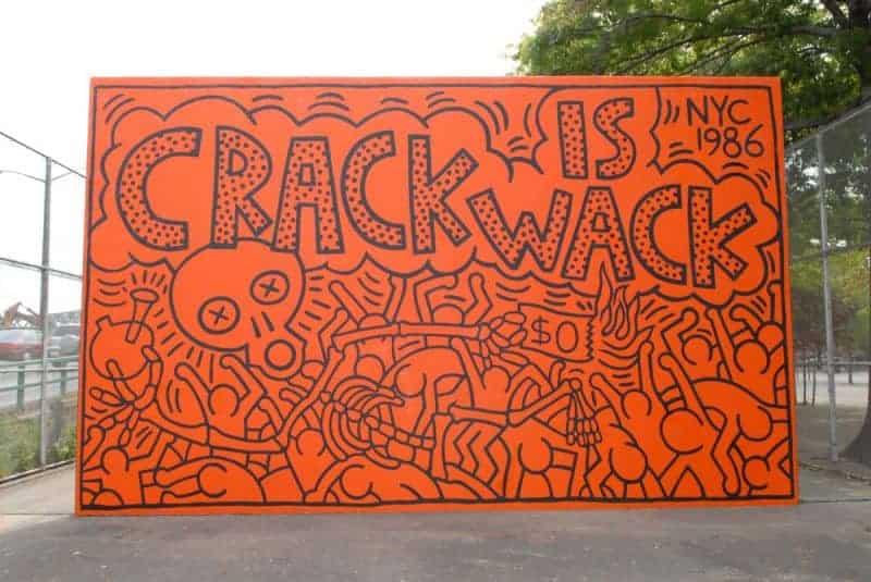 Keith Haring Crack is Wack mural