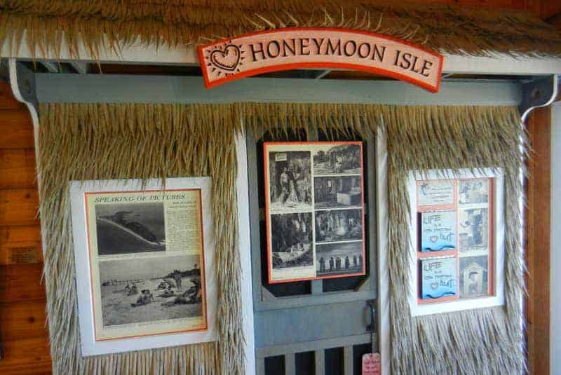 Exhibit at Honeymoon Island State Park nature center tells the story of the contest that gave the island its name