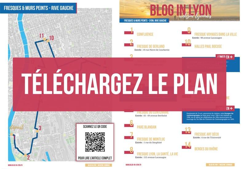 Plan à télécharger - Parcours Fresques et murs peints Lyon | Blog In Lyon