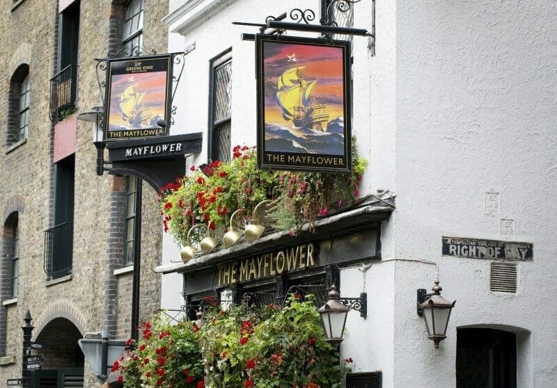 mayflower london pub
