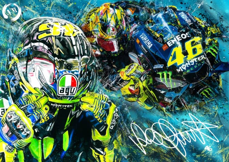 Valentino Rossi Print Picture Poster Moto GP Motorbike Sports The Doctor Portrait 46 Pencil Drawing Art A4 A3 Fan Art Wall Art Decor (Copy)