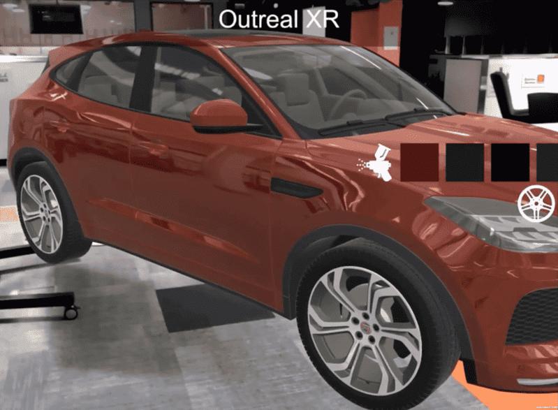 AR Showroom for Jaguar - Outreal XR