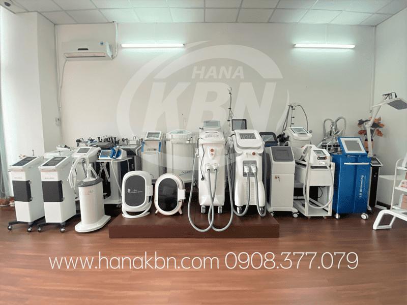 Hình ảnh thực tế các thiết bị spa chính hãng tại Hana Kim Bách Nguyên