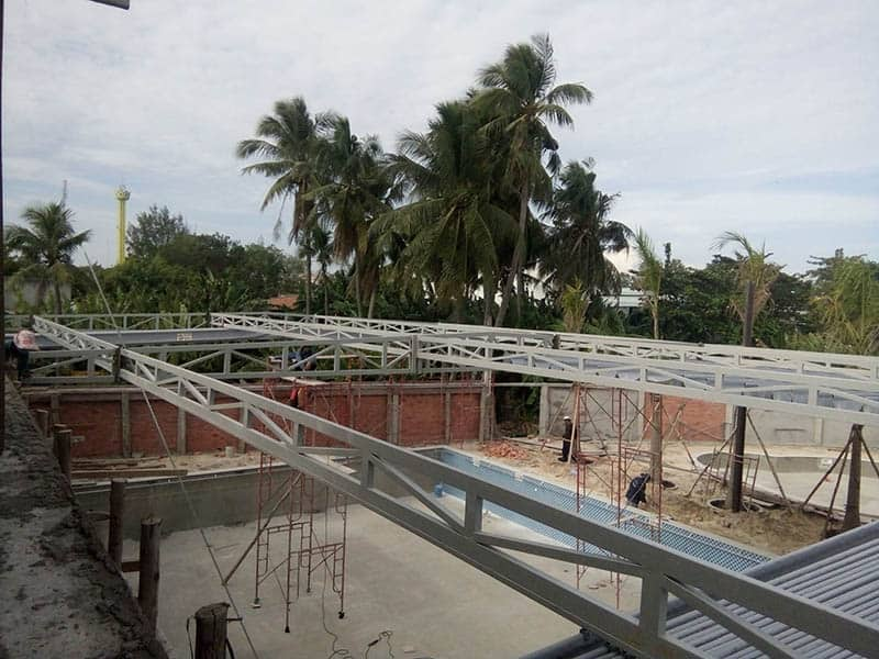 Lắp đặt Mái xếp di động, mái bạt xếp, mái bạt lùa tại địa bàn tỉnh Bình Phước